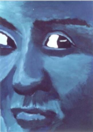 43 Bleu - Portraits - Jérôme Muller Peinture
