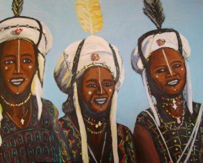 55 Bororos - Sahara - Jérôme Muller Peinture