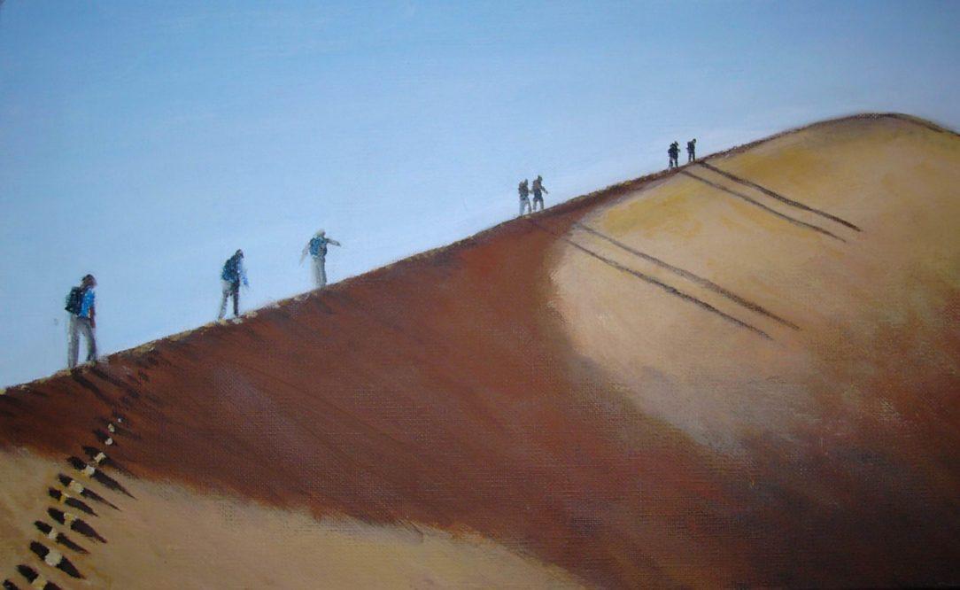 57 JH et Nath - Sahara - Jérôme Muller Peinture