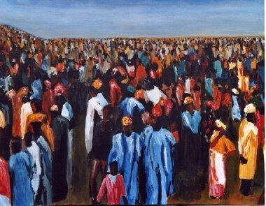 58 Marché - Sahara - Jérôme Muller Peinture
