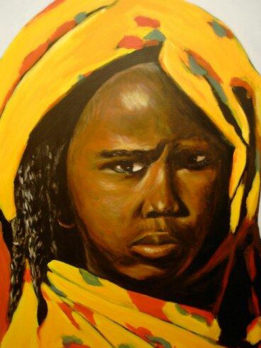 59 Portrait - Sahara - Jérôme Muller Peinture