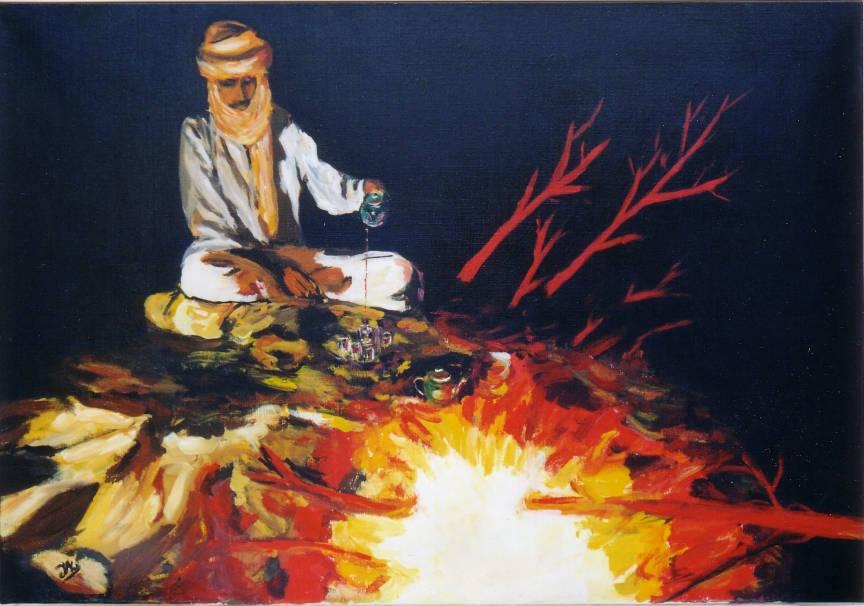 61 Thé - Sahara - Jérôme Muller Peinture