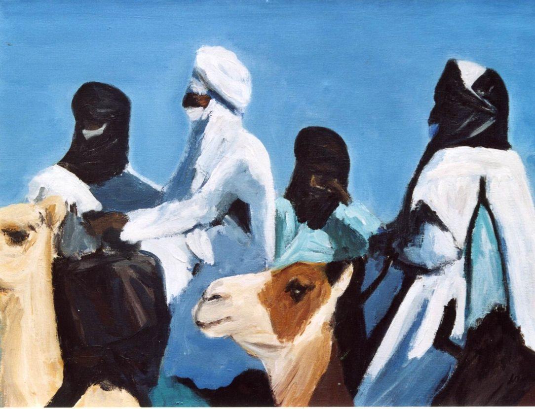62 Touareg 01 - Sahara - Jérôme Muller Peinture