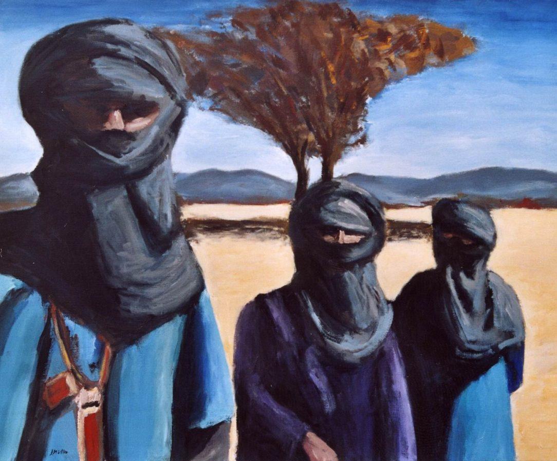 63 Touareg 04 - Sahara - Jérôme Muller Peinture