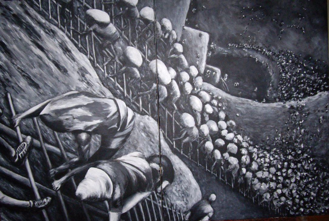 90 Mine d'or - Solitude - Jérôme Muller Peinture