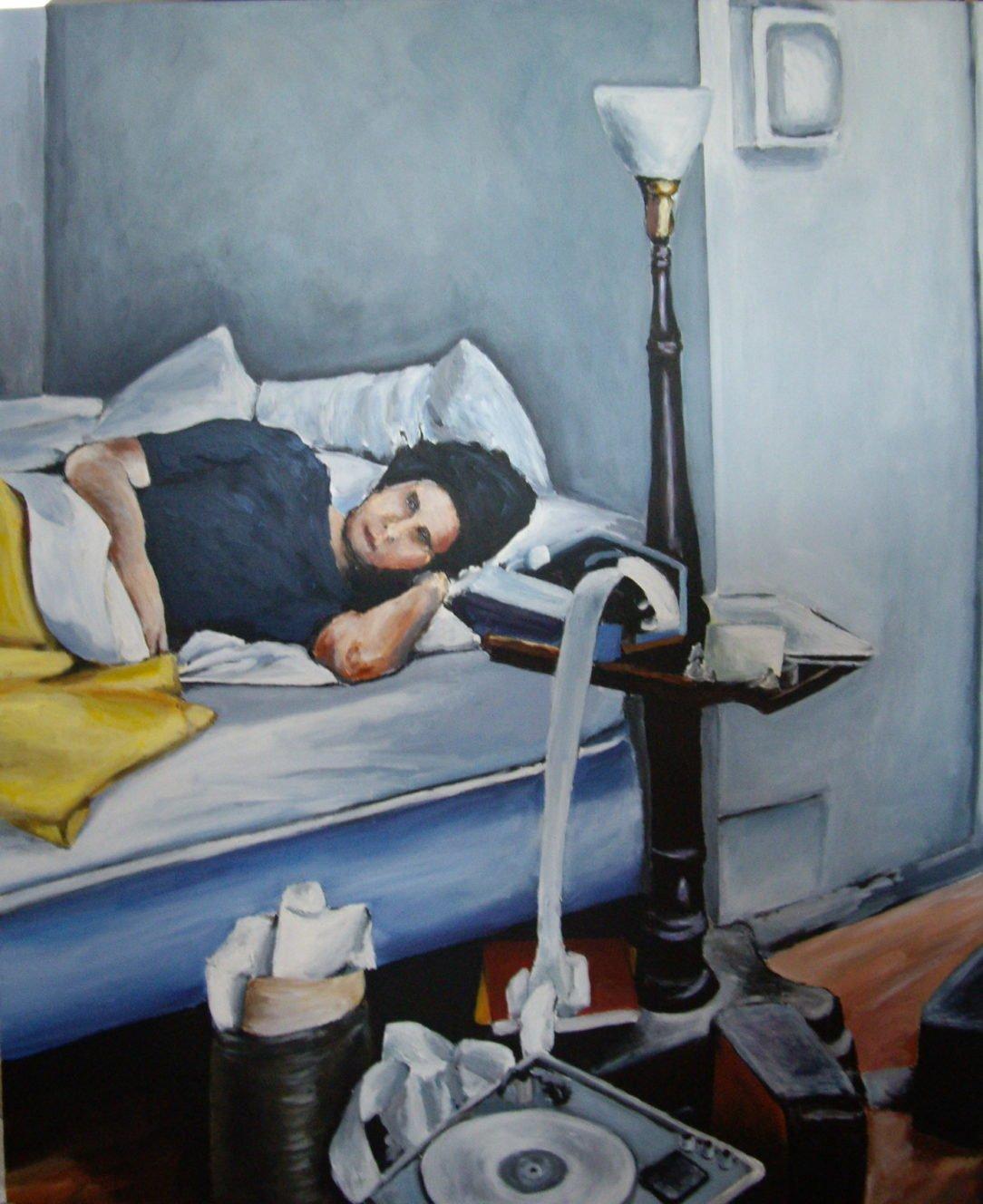 97 Seul dans son lit - Solitude - Jérôme Muller Peinture
