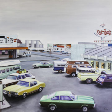 104 Parking - USA - Jérôme Muller Peinture