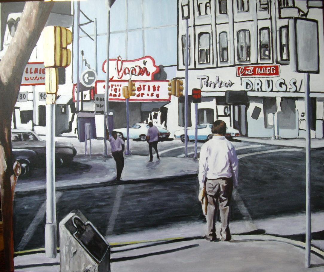 106 Seul en ville - USA - Jérôme Muller Peinture