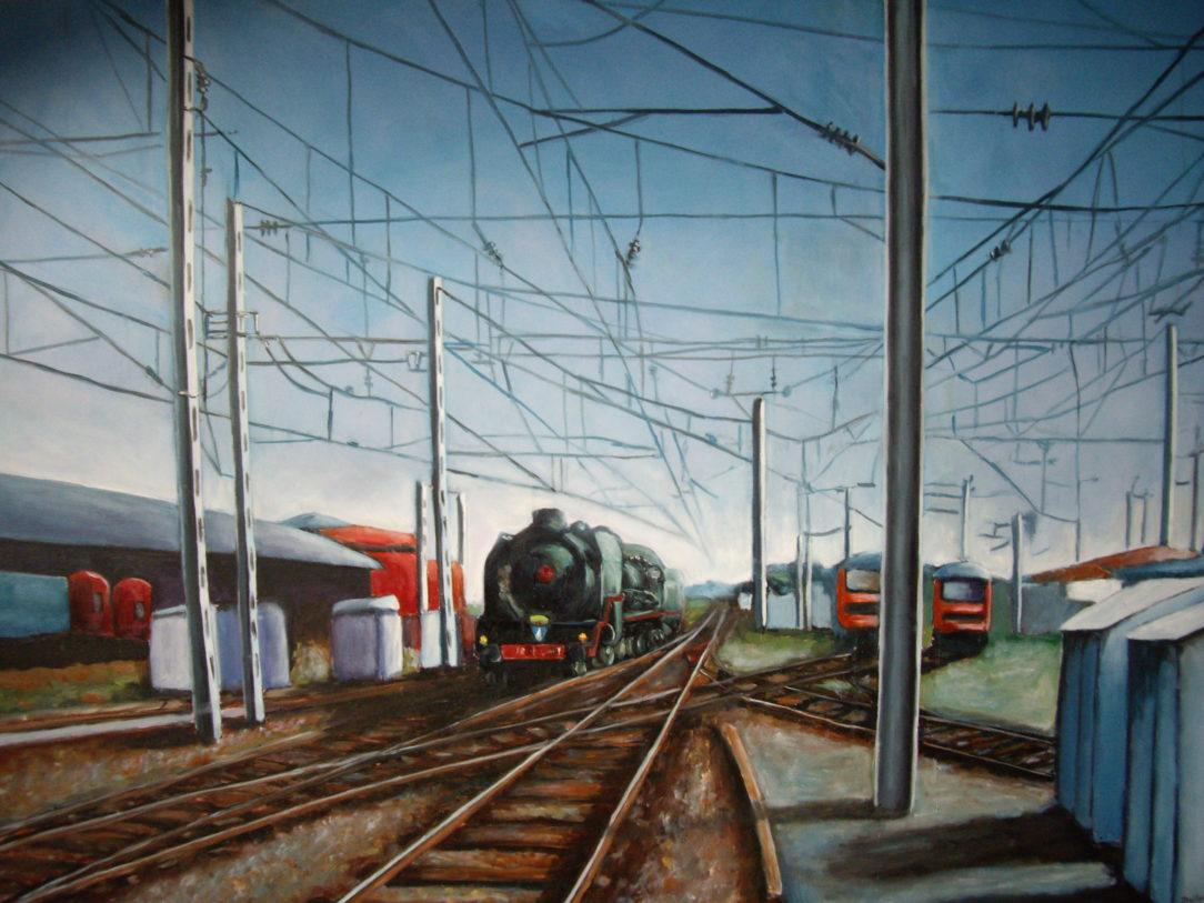 116 Train Gare Belfort - Voyage - Jérôme Muller Peinture
